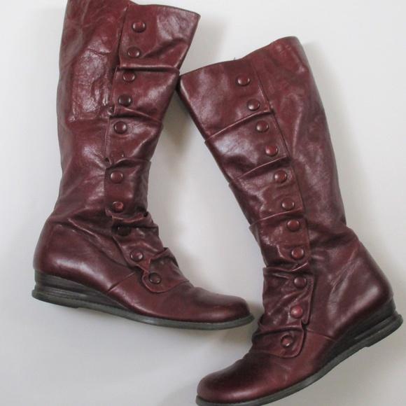 308a99aff6b98 Miz Mooz Oxblood Bloom Tall Knee Boots Steampunk. M_5bdbc1e5df0307882d93df63